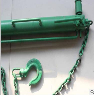 七,产品结构:回柱器由一个生根绳(及生根卡)一个手拉葫芦和一个钩头
