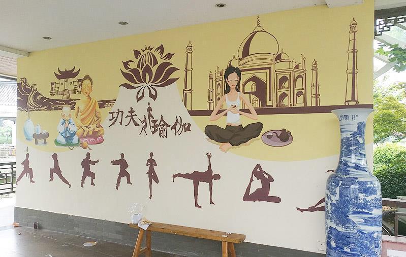 安徽手绘墙画 专注墙面绘画施工 山空墙绘公司