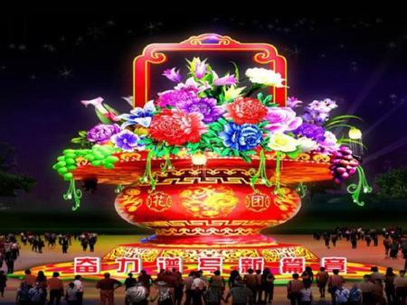 榆林彩灯 设计制作 多彩彩灯文化传媒