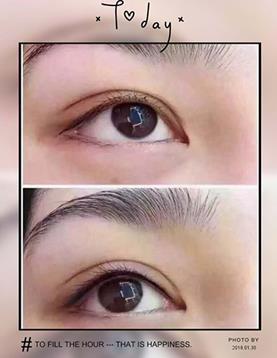 纹绣眉眼广告海报