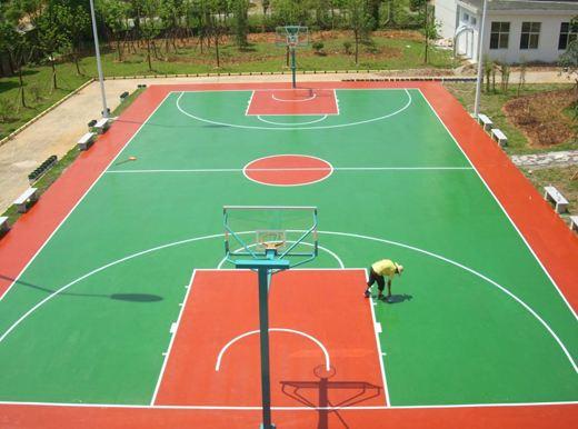 贵阳塑胶球场厂家 悬浮拼装地板羽毛球场