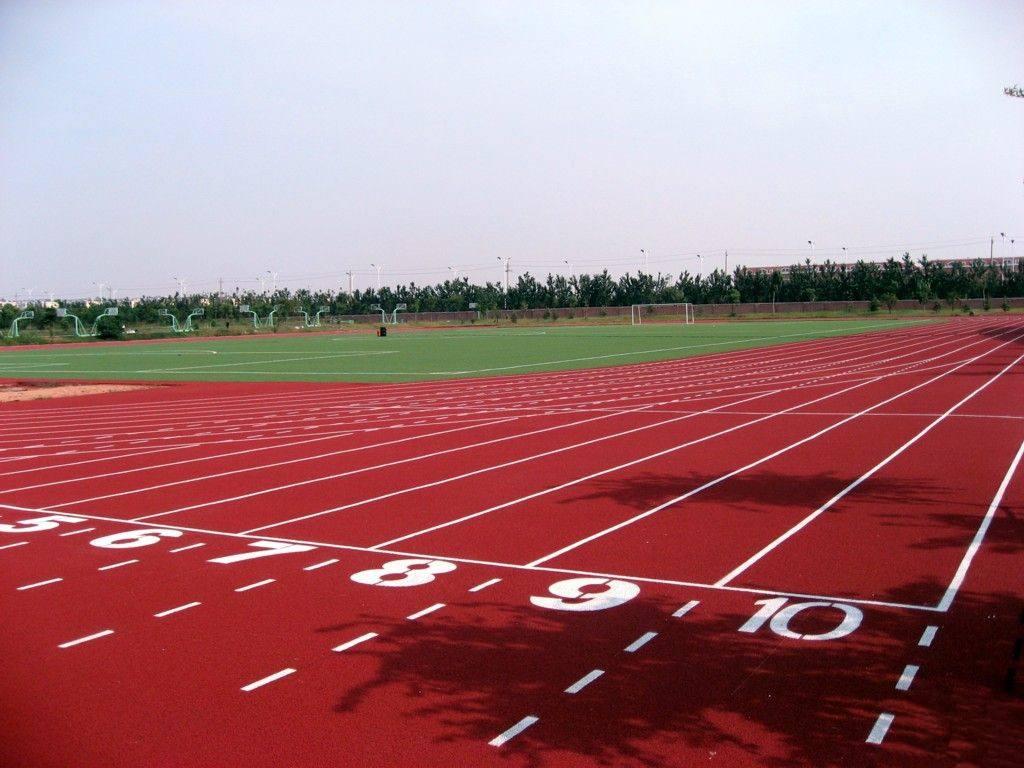 贵州全塑型塑胶跑道报价 全天候田径运动跑道 硬度弹性适当