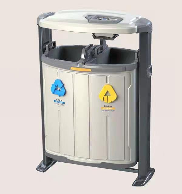 垃圾桶固定架-保定户外垃圾桶厂家