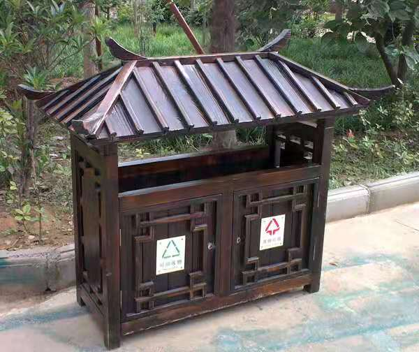 玻璃钢垃圾桶-太原分类垃圾箱厂家-防腐环保