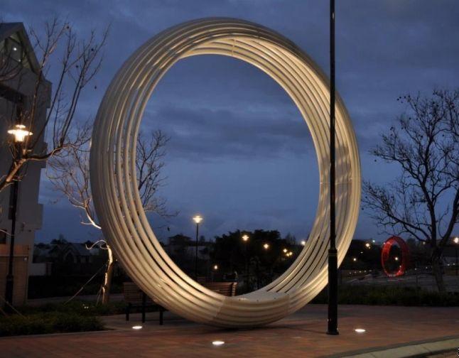 不锈钢雕塑大门-不锈钢雕塑施工工艺