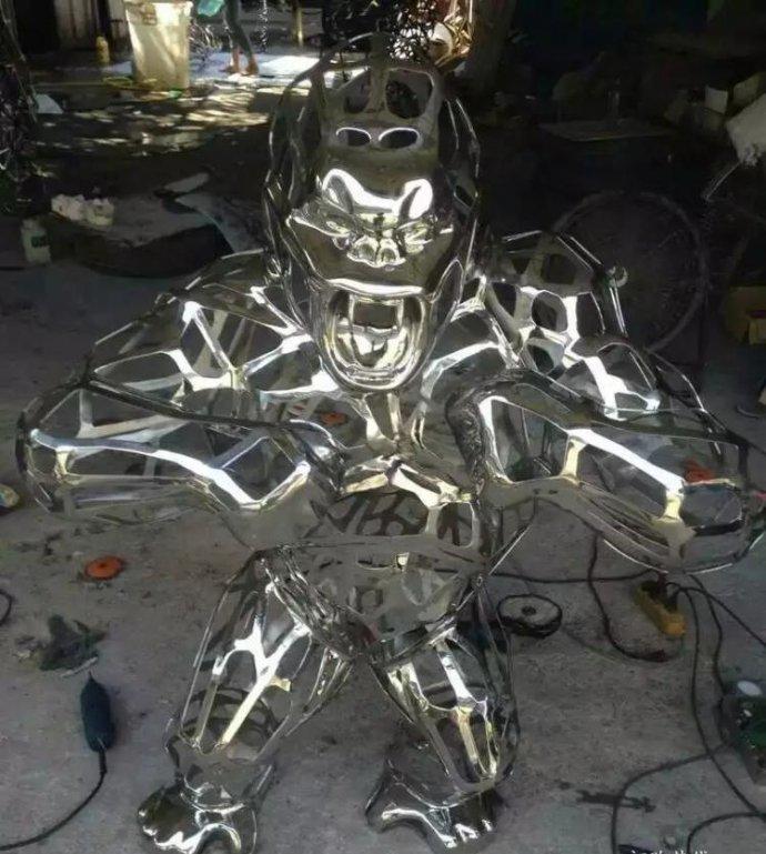 不锈钢运动雕塑-人物不锈钢雕塑公司
