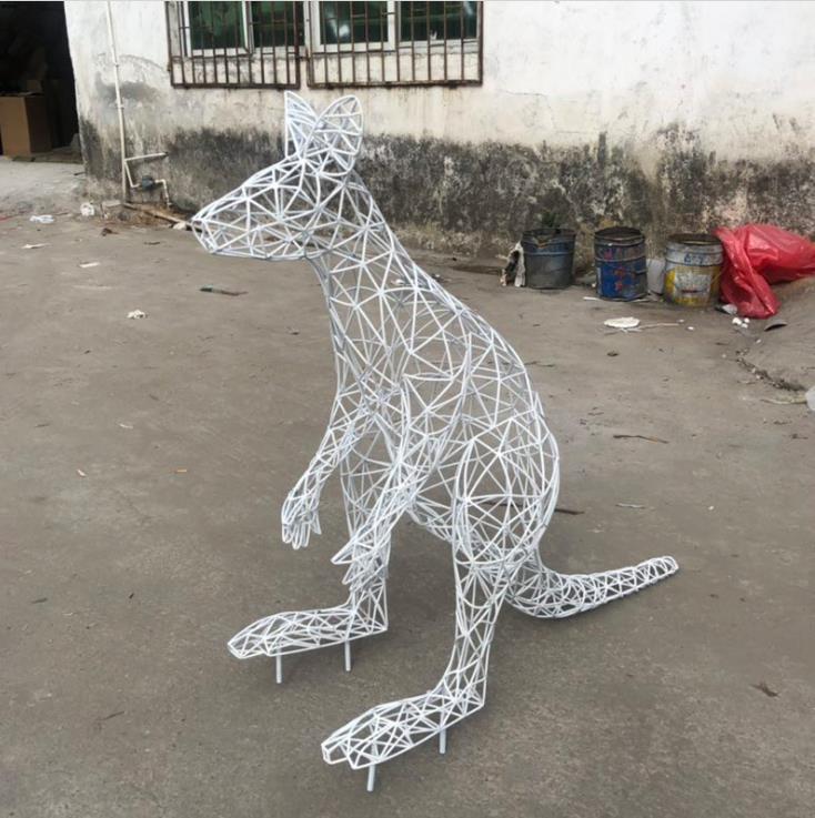 不锈钢金属雕塑定做-红色不锈钢雕塑