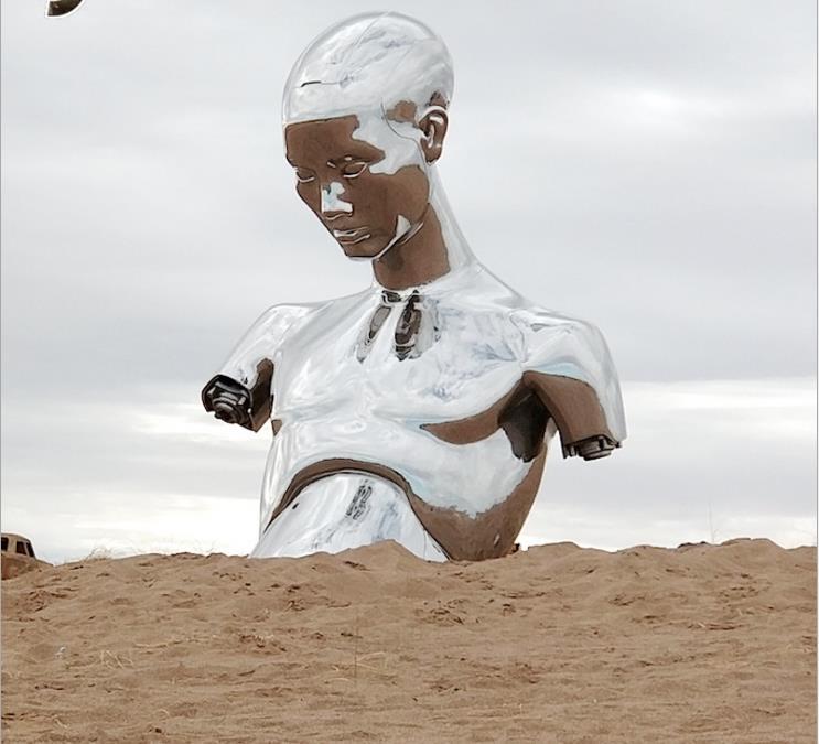 不锈钢仿铜雕塑