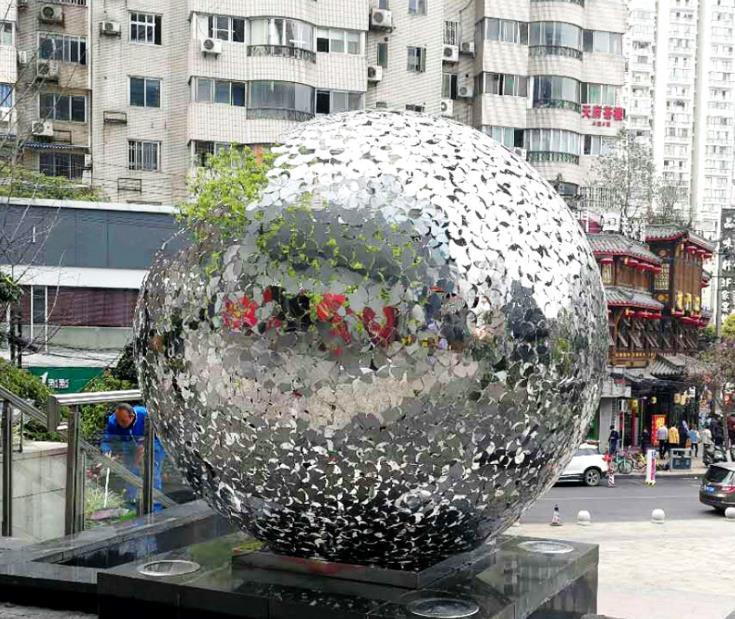 商场不锈钢雕塑