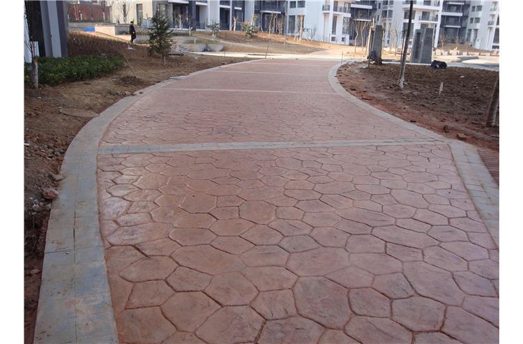 水泥压花路面材料