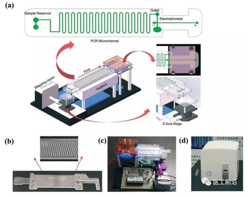 基于集成连续流PCR和电泳生物芯片的微生物现场诊断微流控装置