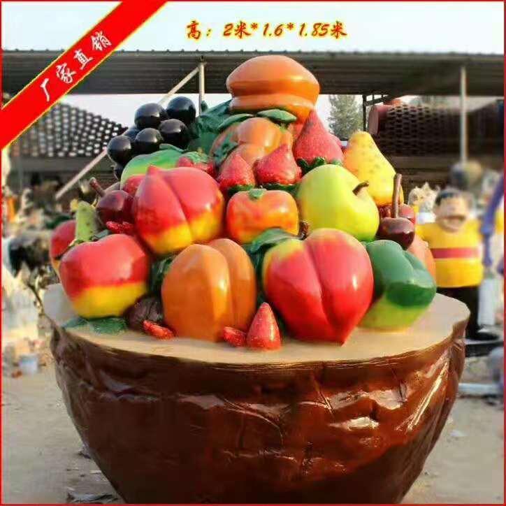 白菜雕塑供应 广场花篮雕塑报价表 品质保证