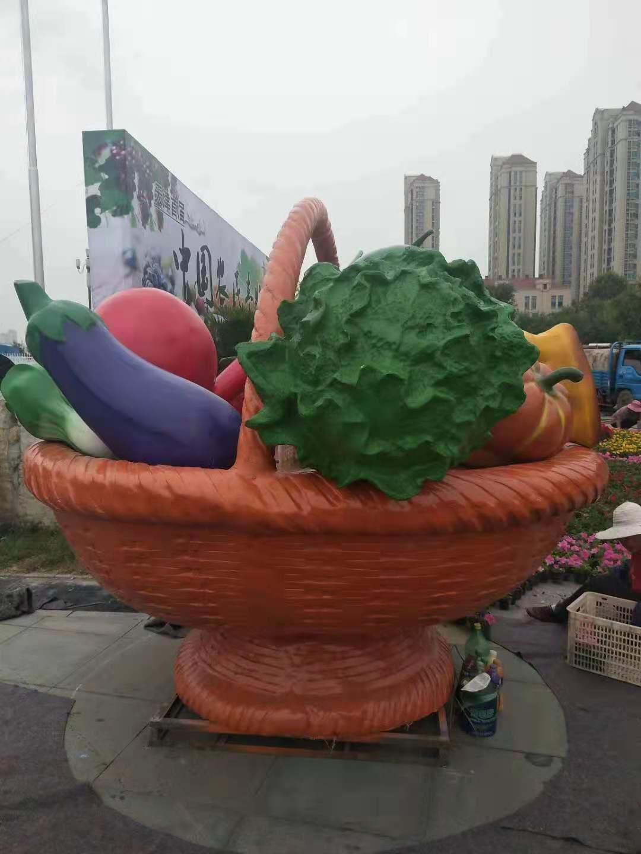 花篮雕塑厂家 茄子 景观雕塑电话 设计安装施工一体服务