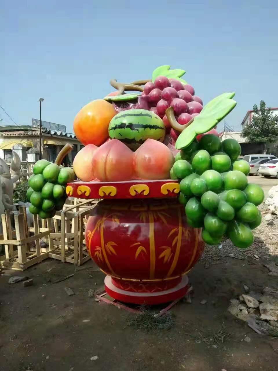 广场花篮雕塑厂家批发 瓜果蔬菜雕塑厂家批发 适用各种景观