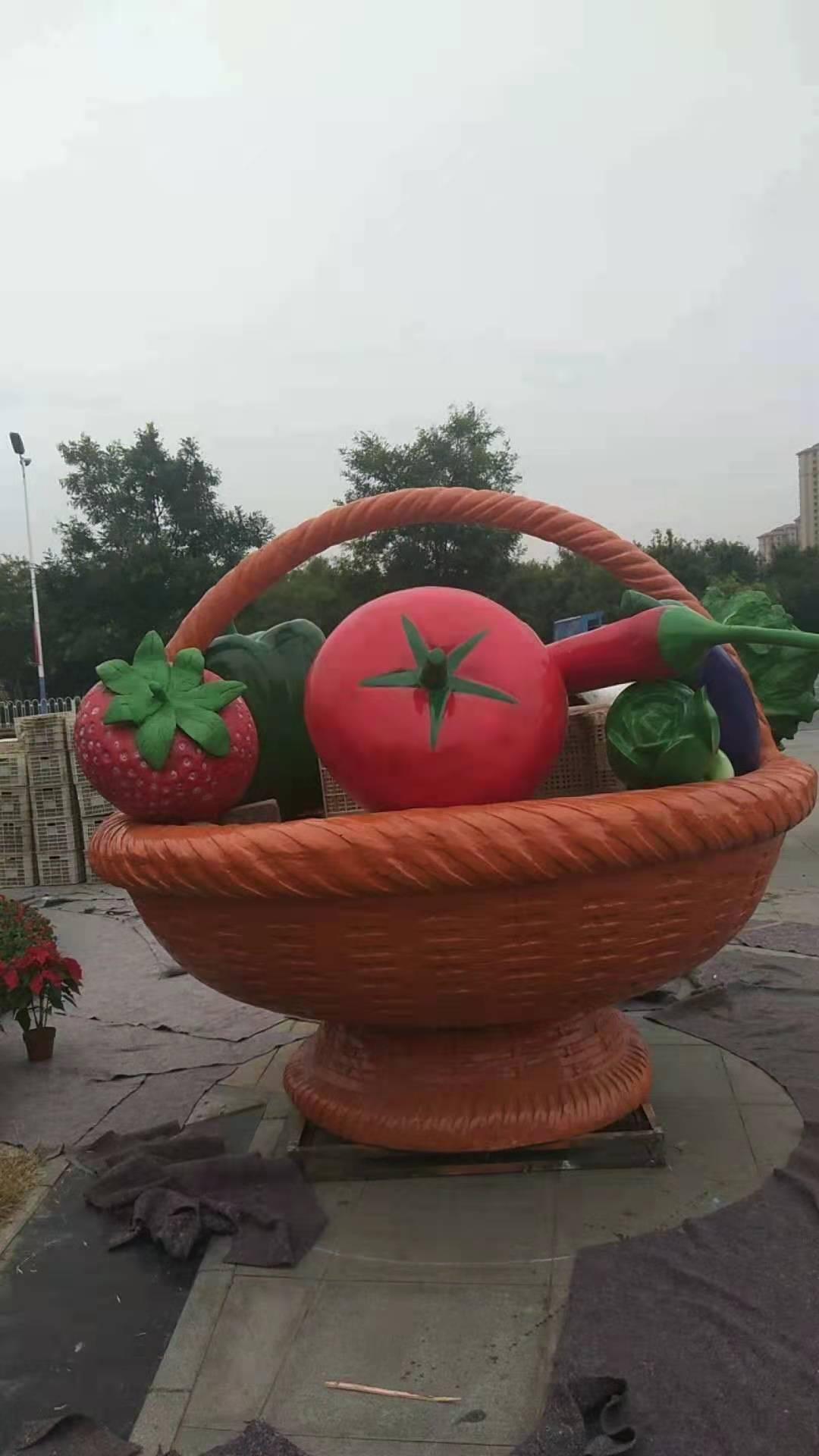 工艺品水果花篮雕塑型号