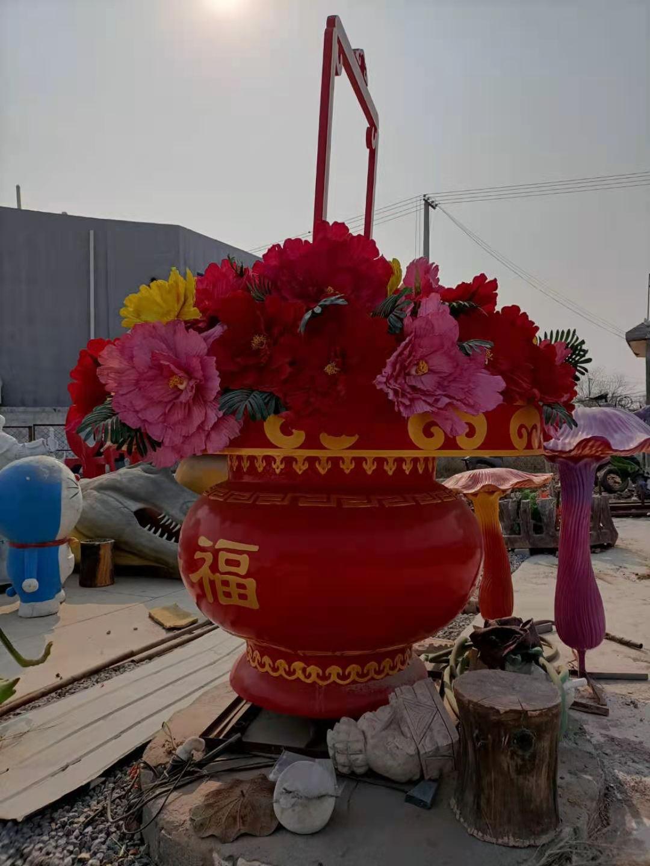 广场花篮景观雕塑生产厂家 青椒  雕塑报价单 适用各种景观